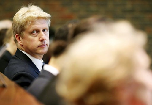 (Chris Radburn/PA via AP, File). FILE  - In this March 3, 2016 file photo, Universities Minister Jo Johnson is photographed prior to giving a speech on science, universities and the EU at the Babbage Lecture Theatre, University of Cambridge in Cambridg...