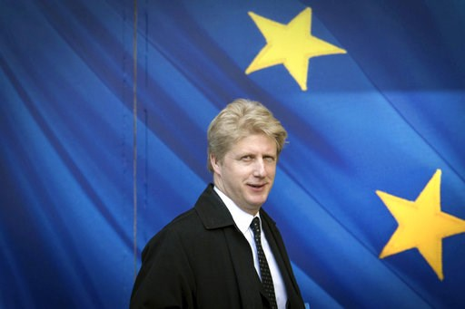 (Stefan Rousseau/PA via AP, file). FILE - In this March 28, 2017 file photo, Jo Johnson visits the the European Commission in Brussels. A transport minister in the British government stepped down Friday, Nov. 9, 2018 to protest Prime Minister Theresa M...