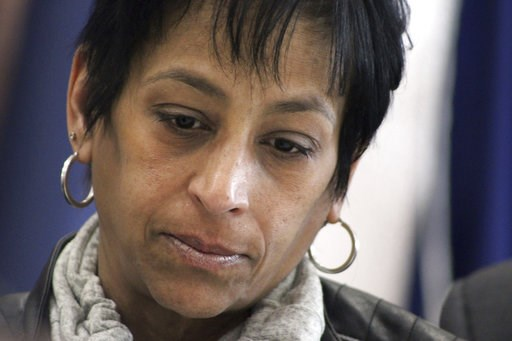 (AP Photos/Frank Eltman). FILE - In this April 24, 2017 file photo, Evelyn Rodriguez listens during a news conference by Suffolk County officials in Hauppauge, N.Y.  An indictment has been filed against the driver of an SUV that struck and killed Rodri...