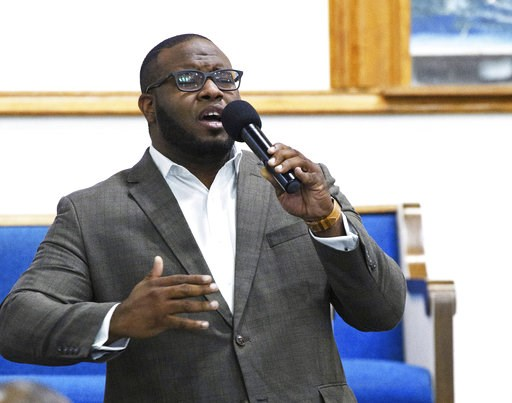 (Jeff Montgomery/Harding University via AP, File). FILE - This Sept. 21, 2017, file photo provided by Harding University in Search, Ark., shows Botham Jean leading worship at a university presidential reception in Dallas. Jean was shot and killed by Da...
