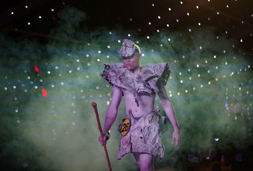 (AP Photo/Ben Curtis). A contestant wearing a traditional costume of animal hides performs in the Mr. & Miss Albinism East Africa contest, organized by the Albinism Society of Kenya, in Nairobi, Kenya Friday, Nov. 30, 2018. The event aims to promot...