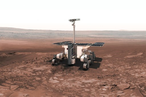 (European Space Agency via AP). This undated artist rendering from the European Space Agency, shows the European-Russian ExoMars rover. As Mars' newest resident settles in, Planet Earth is working on three more landers and at least two orbiters to join...