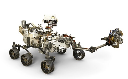 (NASA via AP). This artist's rendering from NASA depicts the Mars 2020 Rover. As Mars' newest resident settles in, Planet Earth is working on three more landers and at least two orbiters to join the scientific Martian brigade. NASA's Mars 2020 will hun...