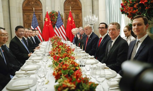 (AP Photo/Pablo Martinez Monsivais). President Donald Trump with China's President Xi Jinping and members of their official delegations during their bilateral meeting at the G20 Summit, Saturday, Dec. 1, 2018 in Buenos Aires, Argentina.