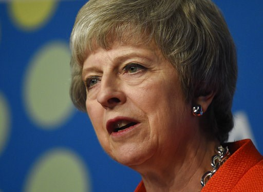 (AP Photo/Gustavo Garello). Britain's Prime Minister Theresa May speaks during a press conference after the G20 Leader's Summit in Buenos Aires, Argentina, Saturday, Dec. 1, 2018. Leaders from the Group of 20 industrialized nations met for two days in ...