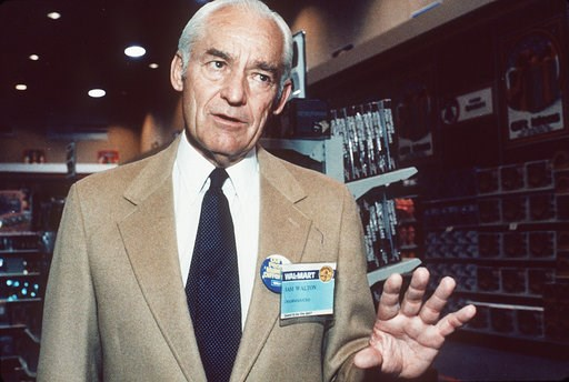 (AP Photos/Danny Johnston, File). FILE- In this July 7, 1984, file photo, Sam Walton talks to reporters in Little Rock, Ark. The namesake foundation of Walton of the Walmart retail empire has been the largest supporter of privately-run, publicly-funded...
