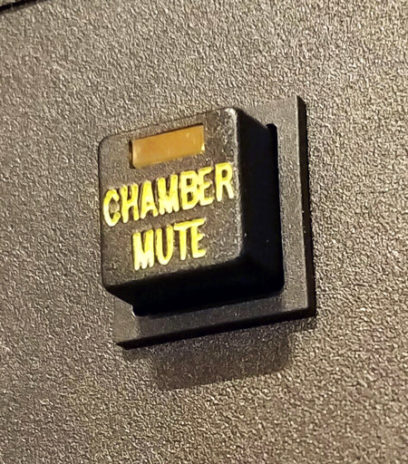 (Mike Freiberg via AP). This Feb. 16, 2017, photo provided by Mike Freiberg shows a mute button inside the House of Representatives at the state Capitol in St. Paul, Minn. When Minnesota Democrats take control of their state House in January 2019, one ...