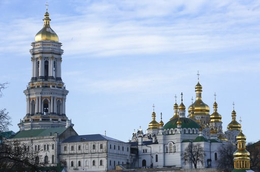 (AP Photo/Efrem Lukatsky). A view of the 1000-year old Monastery of Caves in Kiev, Ukraine, Friday, Nov. 30, 2018. The Ukrainian intelligence agency is searching the home of the father superior of Kiev's biggest and oldest monastery which is part of th...