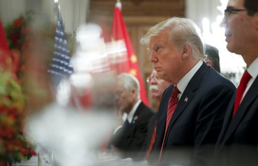 (AP Photo/Pablo Martinez Monsivais). President Donald Trump listens to China's President Xi Jinping speak during their bilateral meeting at the G20 Summit, Saturday, Dec. 1, 2018 in Buenos Aires, Argentina.