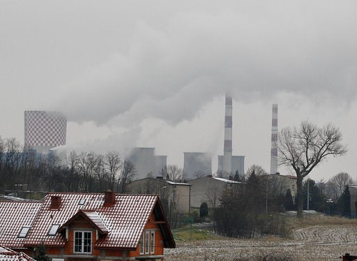 (AP Photo/Czarek Sokolowski). In this Nov. 21, 2018 photo smoke billows from chimney stacks of the heating and power plant in Bedzin, near Katowice, Poland. The COP 24 UN Climate Change Conference is taking place in Katowice. Negotiators from around th...