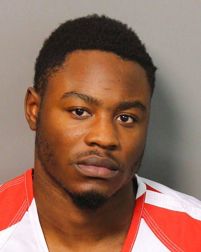 (AP Photo/Jefferson County Sheriff's Office). This Monday, Dec. 3, 2018 booking photograph provided by the Jefferson County Sheriff's Office in Birmingham, Ala., shows Erron Brown, who is charged with attempted murder in a shooting at a shopping mall o...