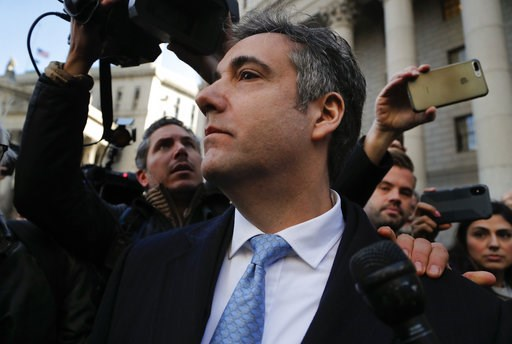 (AP Photo/Julie Jacobson). Michael Cohen walks out of federal court, Thursday, Nov. 29, 2018, in New York, after pleading guilty to lying to Congress about work he did on an aborted project to build a Trump Tower in Russia.  Cohen, President Donald Tru...
