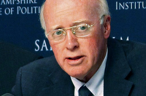 (AP Photo/Holly Ramer). FILE - In this Sept. 12, 2017 file photo, New Hampshire Secretary of State Bill Gardner is shown in a meeting of the Presidential Advisory Commission on Election Integrity in Manchester, NH.  Lawmakers will decide on Wednesday w...