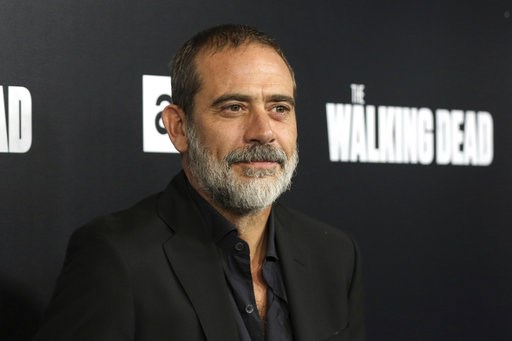 """(Photo by Willy Sanjuan/Invision/AP, File). FILE - In this Sept. 27, 2018, file photo,  Jeffrey Dean Morgan arrives at the LA Premiere of the Season 9 of the AMC's """"The Walking Dead"""" in Los Angeles. A North Carolina animal rescue group says a donkey an..."""
