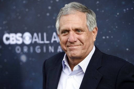 "(Photo by Chris Pizzello/Invision/AP, File). FILE - In this Sept. 19, 2017, file photo, Les Moonves, chairman and CEO of CBS Corporation, poses at the premiere of the new television series ""Star Trek: Discovery"" in Los Angeles. The New York Times says ..."