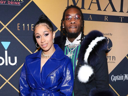 (Photo by Omar Vega/Invision/AP, File). FILE - In this Feb. 3, 2018, file photo, Cardi B, left, and Offset arrive at the Maxim Super Bowl Party at the Maxim Dome in Minneapolis. Cardi B is no longer feeling the love after little more than a year of mar...