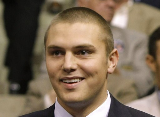 (AP Photo/Charles Rex Arbogast, File). FILE - This Sept. 3, 2008, file photo shows Track Palin during the Republican National Convention in St. Paul, Minn. On Wednesday, Dec. 5, 2018, the oldest son of former Alaska Gov. Sarah Palin checked in to an An...