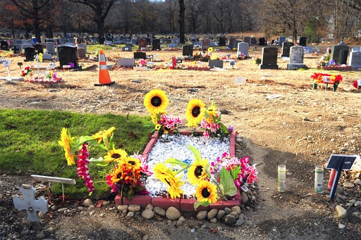 (Ned Gerard/Hearst Connecticut Media via AP, File). FILE - This Nov. 29, 2018 file photo shows Park Cemetery in Bridgeport, Conn. Authorities say gravestones and human remains at the cemetery were moved to make way for the newly dead. A state judge ous...