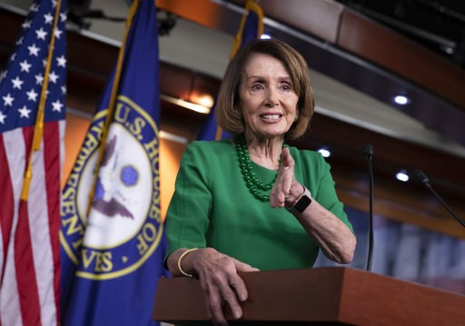 (AP Photo/J. Scott Applewhite). House Democratic Leader Nancy Pelosi of California, meets with reporters at her weekly news conference on Capitol Hill in Washington, Thursday, Dec. 6, 2018.
