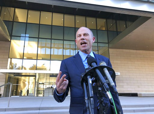 (AP Photo/Brian Melley). Michael Avenatti, lawyer for porn actress Stormy Daniels, speaks to reporters outside federal court in Los Angeles Monday, Dec. 3, 2018. He said that demands by lawyers for President Donald Trump for legal fees amounting to nea...