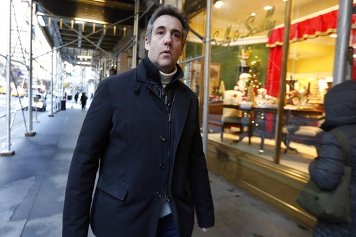 (AP Photo/Richard Drew). Michael Cohen, former lawyer to President Donald Trump, leaves his apartment building on New York's Park Avenue, Friday, Dec. 7, 2018. In the latest filings Friday, prosecutors will weigh in on whether Cohen deserves prison tim...
