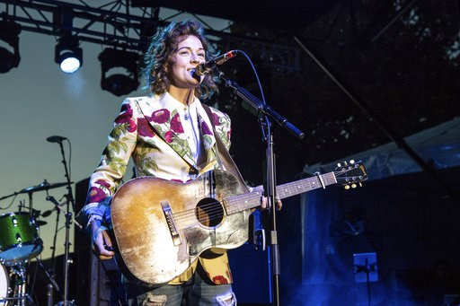 (Photo by Amy Harris/Invision/AP, File). FILE - In this Sunday, Dec. 2, 2018 file photo, Brandi Carlile performs at One Love Malibu at King Gillette Ranch in Calabasas, Calif. A list of nominees in the top categories at the 2019 Grammys, including Kend...