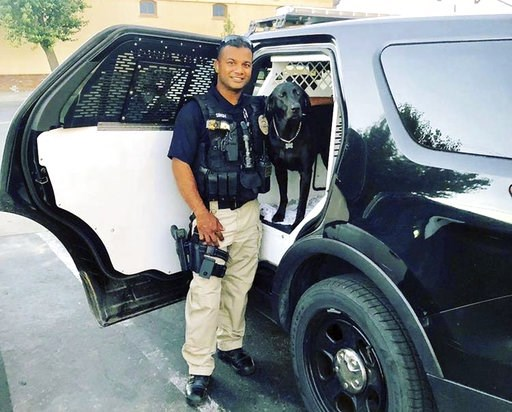 (Stanislaus County Sheriff's Department via AP). This undated photo provided by the Newman Police Department shows officer Ronil Singh of Newman Police Department who was killed by an unidentified suspect. The Stanislaus County Sheriff's Department sai...