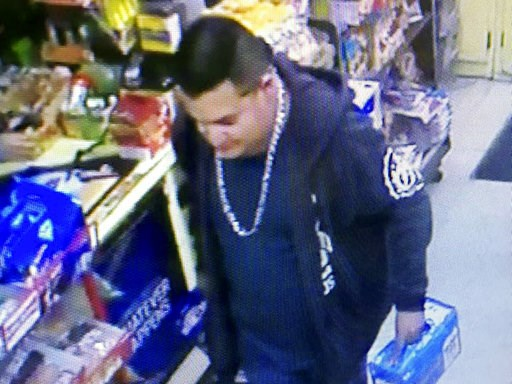 (Stanislaus County Sheriff's Department via AP). This Wednesday, Dec. 26, 2018 image from a surveillance camera video and provided by the Stanislaus County Sheriff's Department shows a suspect police are searching for in connection to the fatal shootin...