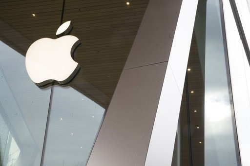 (AP Photo/Mary Altaffer). The Apple logo is displayed at the Apple store in the Brooklyn borough of New York, Thursday, Jan. 3, 2019. Apple's shock warning that its Chinese sales are weakening ratcheted up concerns about the world's second largest econ...