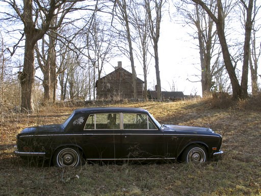 (AP Photo/Dave Collins). A Rolls-Royce automobile sits on the Caprilands herb farm of the late famed herbalist Adelma Grenier Simmons, Thursday, Jan. 3, 2019, in Coventry, Conn. Simmons, who died in 1997 at age 93, is credited with reintroducing and po...
