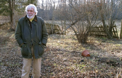 (AP Photo/Dave Collins). Edward Cook, widower of the late herbalist Adelma Grenier Simmons, poses Thursday, Jan. 3, 2019, in the gardens of the Caprilands herb farm in Coventry, Conn. Simmons, who died in 1997 at age 93, is credited with reintroducing ...