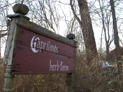 (AP Photo/Dave Collins). A sign directs visitors to the Caprilands herb farm of the late famed herbalist Adelma Grenier Simmons, Thursday, Jan. 3, 2019, in Coventry, Conn. Simmons, who died in 1997 at age 93, is credited with reintroducing and populari...