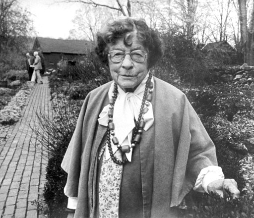 (AP Photo/Don Heiny, File). FILE - In this October 1984 file photo, Adelma Grenier Simmons poses at her Caprilands Herb Farm in Coventry, Conn. Simmons, who died in 1997 at age 93, is credited with reintroducing and popularizing the use of herbs in Ame...