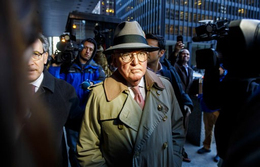 (Brian Cassella/Chicago Tribune via AP). Alderman Ed Burke, 75, walks out of the Dirksen Federal Courthouse following his release after turning himself in, Thursday, Jan. 3, 2019, in Chicago. Burke, one of the most powerful City Council members in Chic...