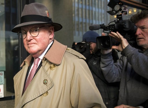 (Ashlee Rezin/Chicago Sun-Times via AP). Alderman Ed Burke, 75, walks into the Dirksen Federal Courthouse, Thursday, Jan. 3, 2019, in Chicago. Burke, one of the most powerful City Council members in Chicago, is charged with one count of attempted extor...