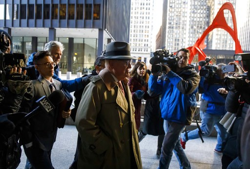 (Brian Cassella/Chicago Tribune via AP). Alderman Ed Burke, 75, walks into the Dirksen Federal Courthouse, Thursday, Jan. 3, 2019, in Chicago. Burke, one of the most powerful City Council members in Chicago, is charged with one count of attempted extor...