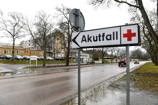 (Fredrik Sandberg/TT News Agency via AP). A view of the hospital  where there has been a suspected case of Ebola, in Enkoping, Sweden, Friday, Jan. 4, 2019. The patient has been isolated. Region Uppsala, which oversees several hospitals and medical cli...