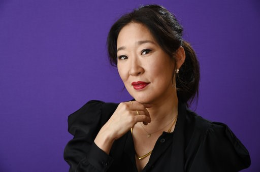 (Photo by Chris Pizzello/Invision/AP, File). FILE - In this Friday, Jan. 12, 2018 file photo, Sandra Oh poses for a portrait in Pasadena, Calif. This year's Golden Globe Awards is set to feel like a major evolution from four years ago, when comedian Ma...