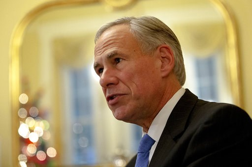 (Nick Wagner/Austin American-Statesman via AP, File). FILE - In this Dec. 6, 2018, file photo, Texas Republican Gov. Greg Abbott speaks during an interview at the Texas Governor's Mansion in Austin. Lawmakers in Texas say a new legislative session will...