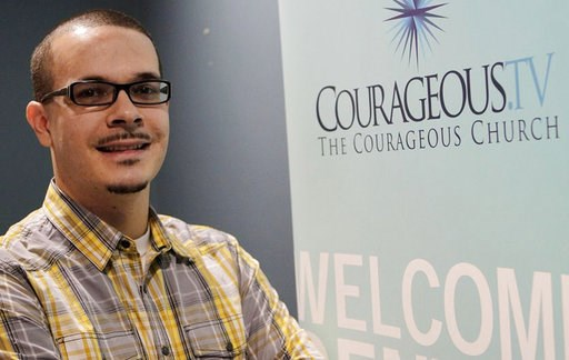 (Vino Wong/Atlanta Journal-Constitution via AP, File). FILE - In this undated file photo, Shaun King poses where he was the lead pastor of Courageous Church in Midtown Atlanta. Acting on a tip received by civil rights activist King, the Harris County S...