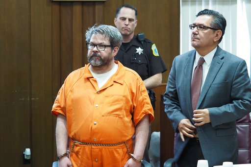 (Mark Bugnaski/Kalamazoo Gazette-MLive Media Group via AP, File). FILE - In this April 20, 2017 file photo, defendant Jason Dalton, left, who is charged with killing six people in-between picking up riders for Uber, stands with attorney Eusebio Solis d...
