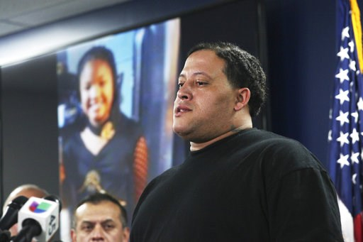 (Nicole Hensley/Houston Chronicle via AP, File). FILE - In this Monday, Dec. 31, 2018 file photo, Christopher Cevilla, father of 7-year-old Jazmine Barnes, speaks during a news conference, in Houston. Authorities in Texas say on Saturday, Jan. 5, 2019,...