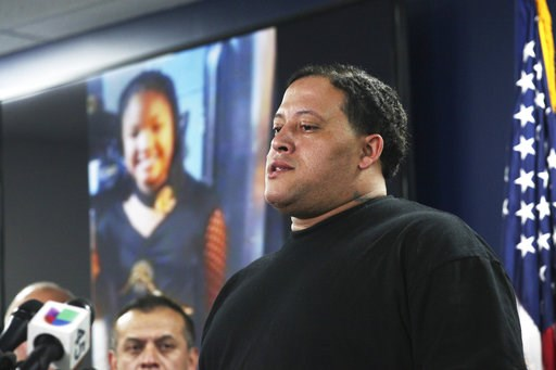 (Nicole Hensley/Houston Chronicle via AP, File). FILE - In this Monday, Dec. 31, 2018 file photo, Christopher Cevilla, father of 7-year-old Jazmine Barnes who was fatally shot Dec. 30, 2018, while in a car with her family, speaks during a news conferen...