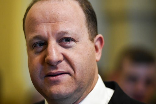 (AAron Ontiveroz/The Denver Post via AP). Colorado Governor elect Jared Polis arrives for a breakfast before his inauguration at the Colorado State Capitol in Denver on Tuesday, Jan. 8, 2019.  Colorado takes a formal step to the left Tuesday with the g...