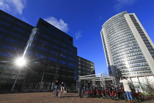 (AP Photo/Peter Dejong). The sun bounces off the temporary location of the European Medicines Agency in Amsterdam, Netherlands, Wednesday, Jan. 9, 2019. The London-based agency is moving to the Dutch capital after Brexit and is scheduled to move to the...