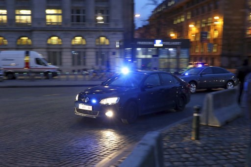 (AP Photo/Francisco Seco). Police in unmarked cars arrive at the Justice Palace during the trial of Mehdi Nemmouche in Brussels, Thursday, Jan. 10, 2019. Mehdi Nemmouche is accused of shooting dead four people at a Jewish museum in Belgium in 2014.