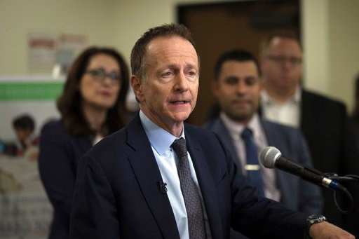 (AP Photo/Jae C. Hong). Los Angeles Unified School District Superintendent Austin Beutner talks to reporters during a news conference at the LAUSD headquarters, Wednesday, Jan. 9, 2019, in Los Angeles. The union representing teachers in Los Angeles, th...