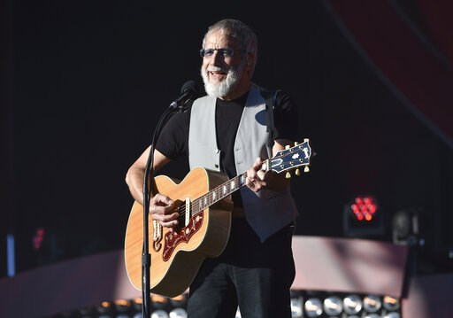 (Photo by Evan Agostini/Invision/AP, File). FILE - In this Saturday, Sept. 24, 2016, file photo, musician Yusuf Cat Stevens performs at the 2016 Global Citizen Festival in Central Park in New York. Missy Elliott is making history as the first female ra...