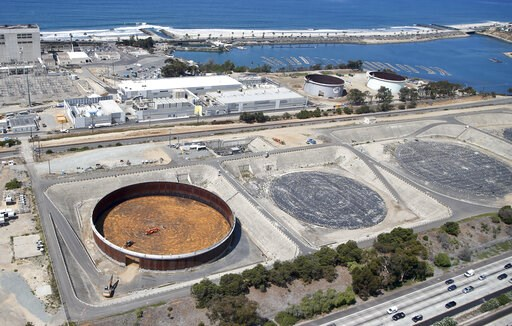 (AP Photo/Lenny Ignelzi, file). FILE - The Sept. 4, 2015 file photo shows the Carlsbad, Calif. desalination plant which borders Interstate 5 on one side and the Pacific Ocean on the other in Carlsbad, Calif. UN Warns of Rising Levels of Toxic Brine as ...