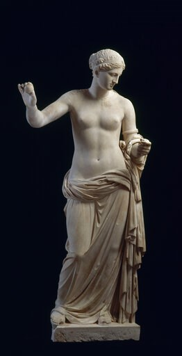 "(Louvre Museum via AP). This image made available on Monday Feb. 4, 2019 by the Louvre Museum shows a marble statue of ""Venus of Arles"" from late 1st century A.D.. A Geneva art museum said on Monday, Feb. 4, 2019, that Facebook had prohibited it from p..."